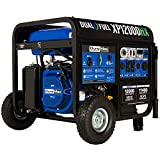 DuroMax XP12000HX Dual Fuel Portable Generator-12000 Watt Gas or Propane Powered Electric Start w/CO Alert, 50 State Approved, Blue