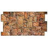 Pannello parete, BedRock - Pannello Finta Pietra In PVC 98x48cm