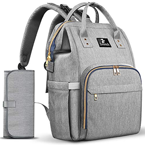 Diaper Bag Backpack,Waterproof Maternity Baby Nappy Changing Bags Gray