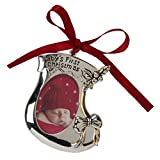 Juliana Silverplated Baby's First Christmas Ornament Bootee
