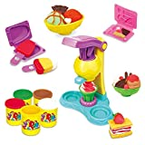 wishkey diy clay play set toy with vending machine, make fancy colorful clay ice cream and food-...