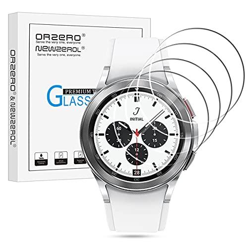 NEWZEROL 4 Stück Kompatibel für Samsung Galaxy Watch 4 Classic 42mm Panzerglas Schutzfolie Galaxy Watch 3 41mm/Galaxy Watch 42mm High Definition Bildschirmschutz Kratzfest Bildschirmschutzfolie-Transparent