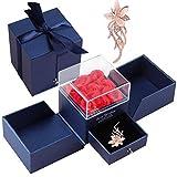 Siebwin Rosa Eterna, Rosa con Ramillete de Diamantes de imitación para Regalos San Valentin Aniversario Cumpleaños tu Mujer Madre Novia, Regalos Originales para Mujer, Regalo Dia de La Madre