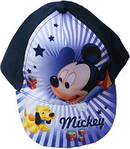 Disney Micky Maus Cap - Spiel mit Mickeys Hund - Dunkelblau/Blau/Mehrfarbig