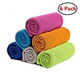 ZONLY [6 Pack] Cooling Towel, Ice Sports Towel,Microfiber Towel, Cool Towel for Instant