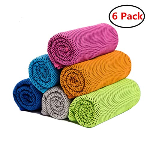 ZONLY [6 Pack] Cooling Towel, Ice Sports Towel, Cool Towel for Instant...