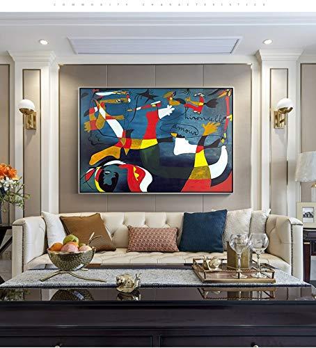CEHSHO Pintura al óleo Picasso de Mayor Venta 100% Pintado a Mano Lienzo Pintura Figura Trabajo Cuadros de Pared para decoración del hogar Pintura al óleo 90x120cm