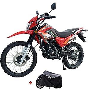X-Pro Hawk 250 Dirt Bike Motorcycle Bike Dirt Bike Enduro Street Bike Motorcycle Bike,Red