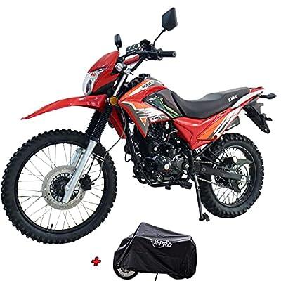 X-Pro Hawk 250 Dirt Bike Motorcycle Bike Dirt Bike Enduro Street Bike Motorcycle Bike,Red by X-Pro