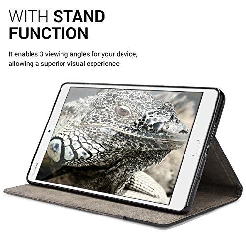 kwmobile Huawei MediaPad M3 8.4 Hülle - Tablet Cover Case Schutzhülle für Huawei MediaPad M3 8.4 mit Ständer - 5