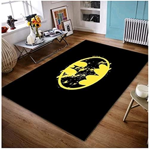 HFDSG Alfombra Animación De Dibujos Animados Dormitorio Sala De Estar Habitación para Niños Liga De La Justicia Batman Baño Rectangular Pila Corta Alfombra Minimalista Moderna