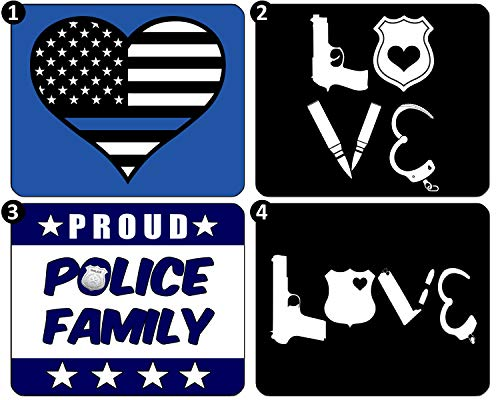 Mouse Pad for Computer 7.1x8.7 inch Police 6 R Dept Cop Hero Law Enforcement Thin Blue Line American Flag Family Love Wife Gaming Mousepad with Non-Slip Rubber Base for Laptop PC