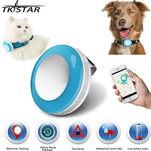 Pet Tracker GPS Tracker for Dogs (Free SIM) Cat Dog Waterproof GPS Tracker Real Time Tracking device ,Pet GPS Tracker With Free App TK925