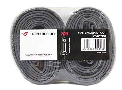 HUTCHINSON Schlauch-Set Road Standard Sv/48 Mm Blíster 2 cámaras, Unisex Adulto, Negro, Talla_única