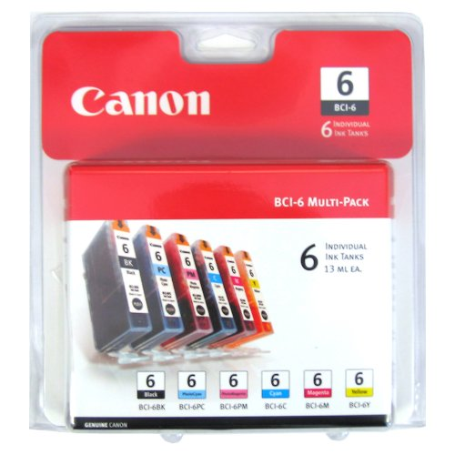 Canon BCI-6 6 Color Multi Pack Compatible to iP8500, iP6000D, i9900, i9100, i960, i950, i900D, S9000, S900, S830D, S820D, S820, S800, BJC 8200