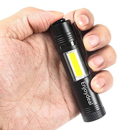 Mini linterna 2000 Lumen Q5 COB 4 modos Super brillante LED de mano linterna antorcha Penlight AA / 14500 para caminatas al aire libre Ciclismo Camping