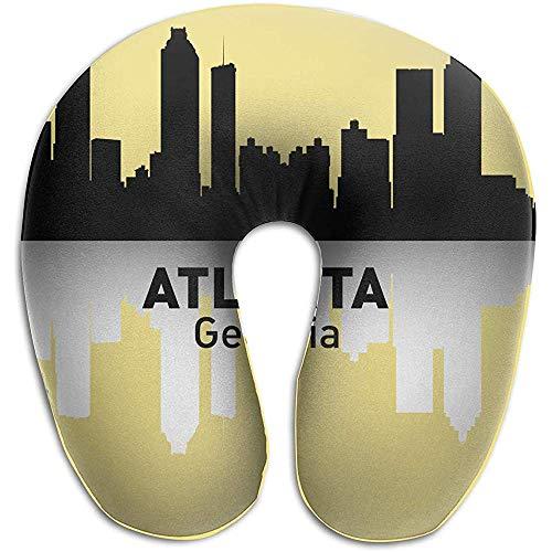 Almohadas,Atlanta Georgia Almohadas Suave Portátil para Viajar Lectura Dormir