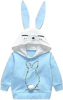 パーカー 子供服 春秋冬 長袖 フード付き ウサギ 耳付き かわいい 男の子 女の子 Chaufly
