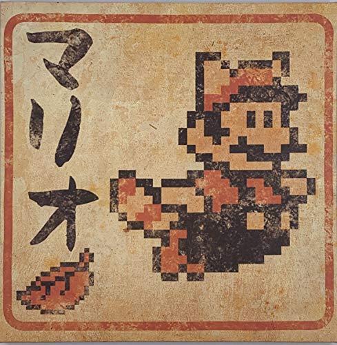 Super Mario 8 Bit Japanese 12x12 Inch Canvas Wall Art, Picture Poster - Tanooki Mario