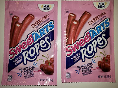 SweeTARTS soft & chewy Ropes, cherry punch flavor 2pk BUNDLE