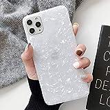 Tybaker iPhone 11 Hülle HandyHülle Soft Flex Hüllen Silikon Hülle Ultra Dünn Schutzhülle TPU Bumper Schutz Stoßfest Tasche Schale HandyHullen Hülle Cover für Apple iPhone 11,Shell Weiß