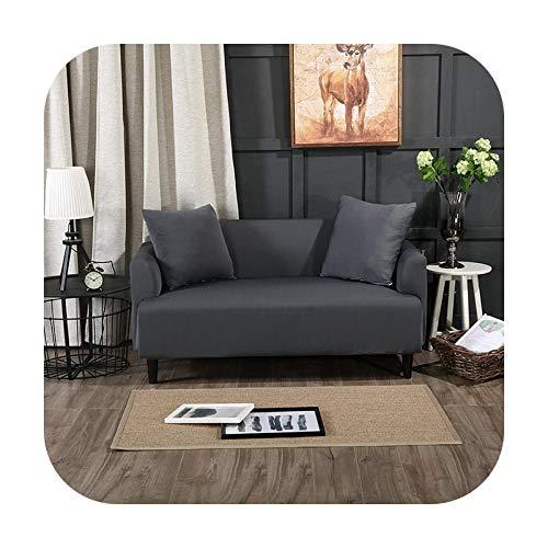 Sofá cubre moderno sólido beige 1 2 3 4 plazas Seccional esquina elástica para salón sillón L tipo sofá cubierta estiramiento-sf078-2-plazas 150-185cm