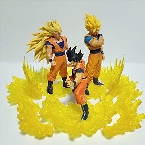 Dragon Ball Z Super Saiyan Goku Figurita DIY Set PVC Modelo Figura De Acción Anime Dragon Ball Super 3 Stage Goku Juguetes Coleccionables