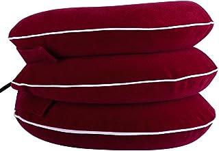 Cuello cervical inflable, dispositivos de tracción de cuello plegables ajustables Masaje cervical para cuello Hombro Cabeza trasera Alivio del dolor Almohada de alineación de columna inflable(#4)