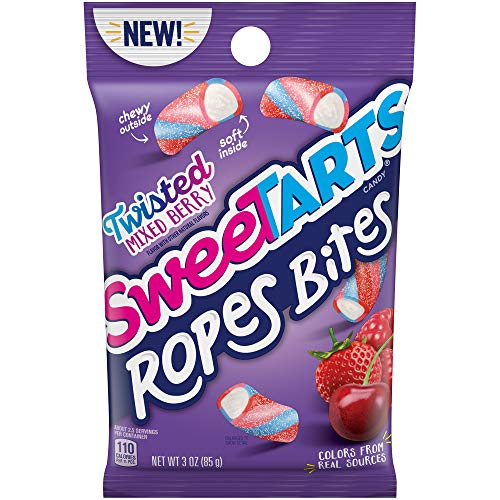 SweeTARTS Ropes Bites Twisted Mixed Berry, 3 Ounce, Pack of 12