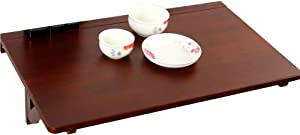 HDL JL Folding Table Wall-Mounted Table Folding Computer Table, Solid Wood Dining Table/Children's Study Table/Simple Desk, Multi-Size Selection A++ (Size : 80x50CM)