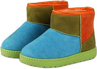[STYLISH] キッズムートンブーツ ムートンブーツ ショートブーツ 子供ムートン ジュニアブーツ ボアブーツ 綿靴 冬靴 ファー 防寒 滑り止め 18CM 20CM