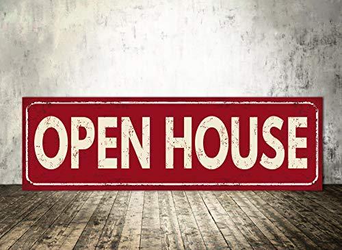 JeremyHar75 Open House Sign Open House Welcome Real Estate Agent Real Estate Flyer - Póster de Bienvenida de Real Estate