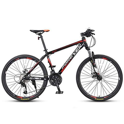 Bicicleta Montaña MTB MTB 26' Suspensión Unisex Barranco Bicicletas 24/27 Plazos De Envío Marco De Acero Al Carbono De Disco De Freno Delantero Bicicleta de Montaña ( Color : Red , Size : 27speed )