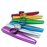DDG EDMMS 2-teiliges Metall Kazoo Musikinstrument Kinderspielzeug ultraleichte Aluminiumlegierung Kazoo, zufällige Farben