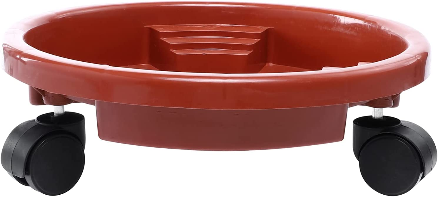 Housoutil mart Resin Flower Pot Tray Whee Plant Ranking TOP18 Drip with Saucer