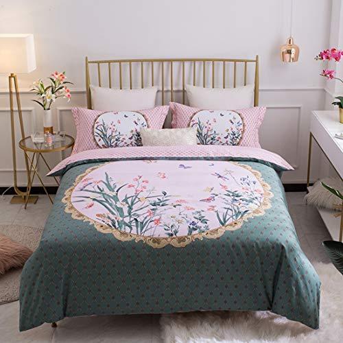 Teyun. Bett Bettwäsche aus Reiner Baumwolle Hochwertige High-Density-Brushed Bettwäsche Pillowcase Vier-teilig (Color : 02, Size : 220 * 240CM)
