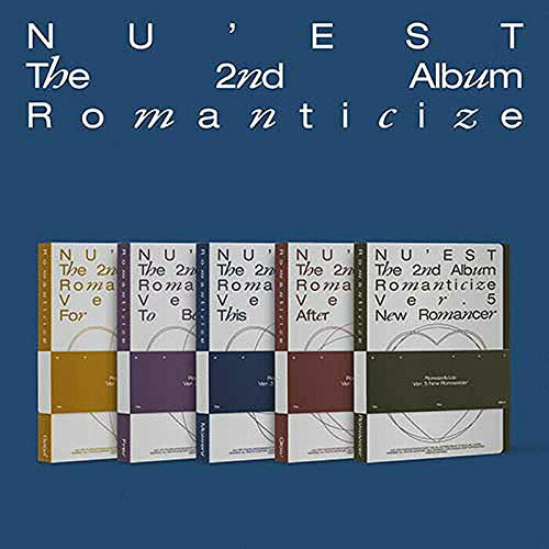 NU'EST ROMANTICIZE 2nd Album VER.4 (After Glow) CD+1p UNFOLDED POSTER+52p Photo Book+12p Lyrics Book +Photo Post Card(1set 6ea)+Book Mark+Photo Card K-POP SEALED+TRACKING CODE