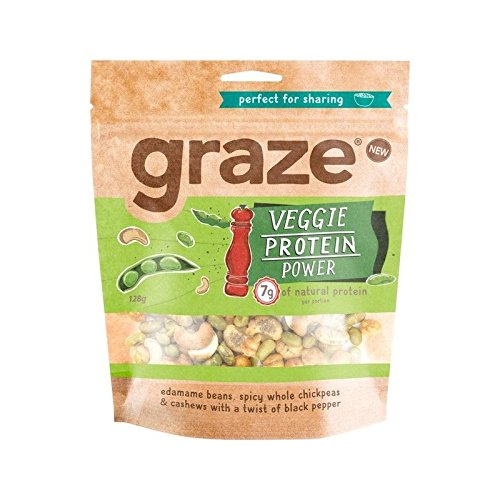Graze Veggie Protein Power 128g - Pack of 4