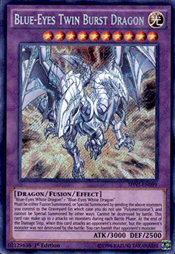 Yu-Gi-Oh! - Blue-Eyes Twin Burst Dragon (SHVI-EN099) - Shining Victories - Unlimited Edition - Secret Rare