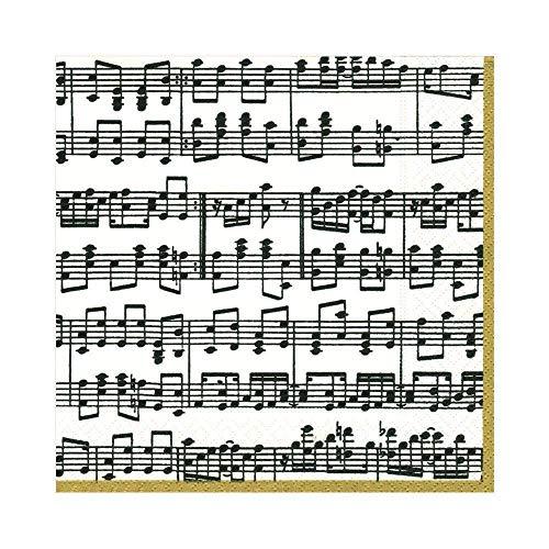 Caspari Entertaining - Tovaglioli di Cart con spartiti Musicali (Confezione da 20)