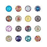 PandaHall Gemischte Farbe Bunt Runde Mosaik Kuppel Glas cabochons ca. 200 Stück, Größe 12×4 mm - 2