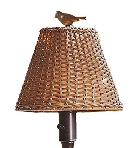 Plow & Hearth 39801-TN Waterproof Outdoor Wicker Floor Lamp, 16 3/4