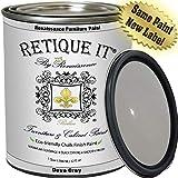 Retique It Chalk Finish Renaissance Furniture Paint, 32 oz (Quart), 04 Dove Grey, 32 Ounces