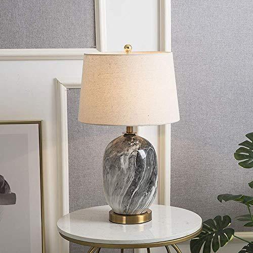 YANQING duurzame keramische decoratieve tafellamp moderne minimalistische katoen en linnen lampenkap LED warm licht woonkamer slaapkamer hotel bureau kantoor 35 * 35 * 56cm oplichten leven