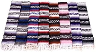 Six 6 Large Authentic Mexican Falsa Blanket Throw Yoga Mexico Wholesale Pack