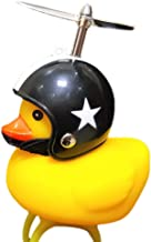 Wetour Kids Cute Bike Squeeze Horn Horn and Light Funny Little Duck Helmet Bicycle Bell /& Head Lights Regalo para Ni/ños