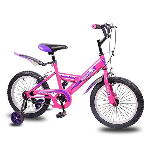 Axdwfd Kinderfiets, 16 inch, voor jongens en meisjes van 3-8 jaar, fietsen met steunwielen