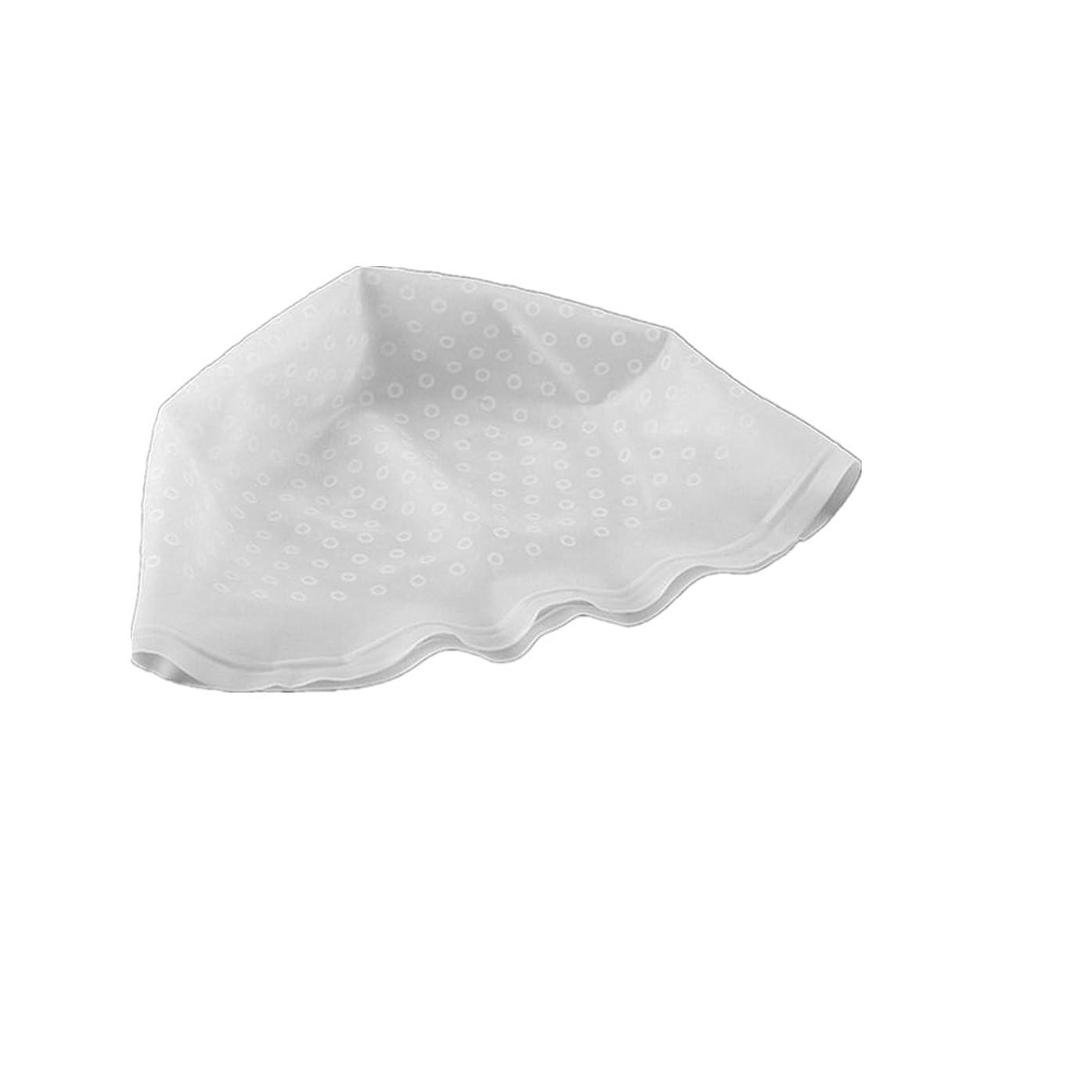 ほんの静脈力強いAMAA 毛染め用 キャップ ヘアカラーキャップ 再利用可能 染め専用 ボンネット ヘアカラー (白)