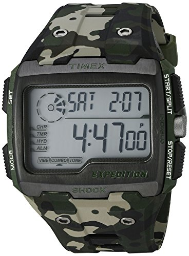 Timex TW4B02900 Herren-Armbanduhr mit Quarz-Uhrwerk, Digitalanzeige und Resin-Uhrenband.