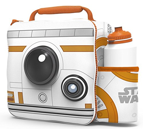 Kids Children 3D Lunch Box Bag With Sport Water Bottle (BB8)